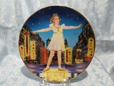 """J - Shirley Temple """"Miss Broadway"""" Collectors Plate"""