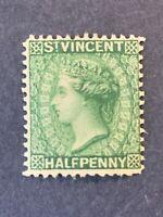 1884 BRITISH ST. VINCENT ,1/2P QUEEN VICTORIA.