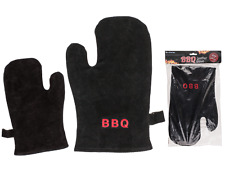Leather BBQ Glove - Heat/Fire Protection Mitt Oven Glove King Of The Grill