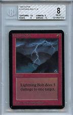 MTG Alpha Lightning Bolt BGS 8.0 NM-MT Card 1993 WOTC 5081