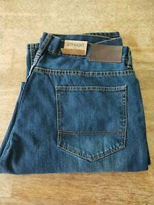XL {38] mens  STRAIGHT JEANS  mid wash {rrp $39.00} low stock