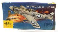 Vintage Heller 1/72 Mustang P-51D Model Kit L085