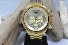 MEN'S VESTAL ZR3 GOLD/BRUSHED ZR3020 CHRONOGRAPH WATCH WITH DATE AND TACHYMETER