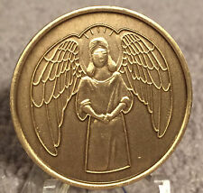 Guardian Angel Recovery Medallion Chip Coin AA NA  Bronze He Will Command Angels