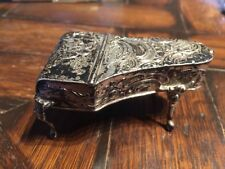 Antique English Sterling Silver Harpsichord Piano SNUFF Pill BOX hallmarked