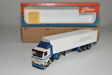 X TEKNO SCANIA 142 H 142H TRUCK WITH TRAILER PROMO WERBE WHITE NEAR MINT BOXED