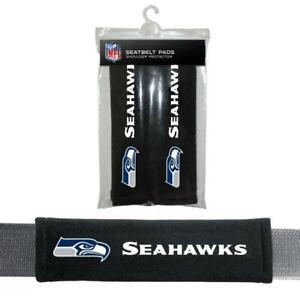 Seattle Seahawks Seat Belt Pads 2 Pack [NEW] NFL Auto Car Seatbelt Shoulder