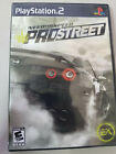 Need for Speed ProStreet PS2 Game Sony PlayStation 2 CIB Complete - Tested