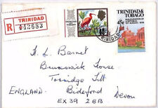 BR242 1976 TRINIDAD & TOBAGO *St.James* CDS REGISTERED Commercial Airmail Cover