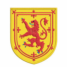 """Scotland Medieval Coat of Arms 3.5"""" Embroidered Hook Backing Patch Applique"""