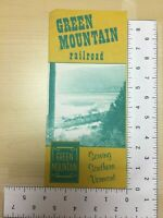 Vintage Travel Brochure Green Mountain Railroad Serving Southern Vermont