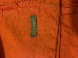 Queen size Linen Duvet Cover 'Home Republic' Coral colour