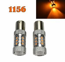 Rear Signal Light 1156 BA15S 7506 3497 1141 P21W 80W Amber LED Bulb M1 GM MA