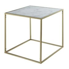 Convenience Concepts Gold Coast Marble End Table, Gold/Marble - 413445M