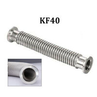 KF40 (NW40) Flange Flexible Bellows Hose SS304 Vacuum Pipe Tube Corrugated Lab