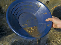 "14"" Blue Plastic Gold Pan Nugget Mining Dredging Prospecting River Panning"