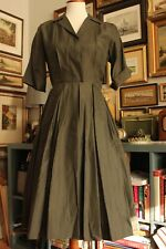 New listing Xs Vintage 50s Olive Green Shirtwaist Shirt dress