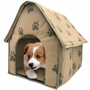 Foldable Dog House Indoor Portable Pet Bed Tent Cat Kennel Travel Puppy Mat Cave