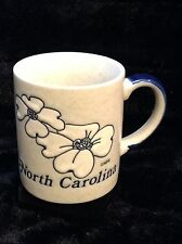APS North Carolina Speckled Blue Souvenir Coffee Mug State Flower Dogwood