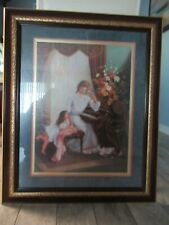 "Home Interior Framed Print ""Mother May I Play"" by Di Giacomo 32"" x 27"""