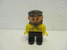 ( A10 ) LEGO Duplo  Intelli Lokführer Schaffner Gelb