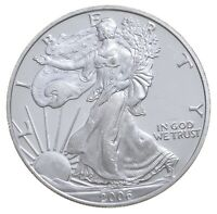 Better Date 2006 American Silver Eagle 1 Troy Oz .999 Fine Silver BU Unc