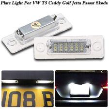 Canbus LED License Number Plate Light For VW T5 Caddy Golf Jetta Passat Skoda