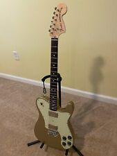 Fender Telecaster Deluxe Guitar, Chris Shiflett Signature, Gold, Excellent+