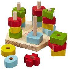 Steckspiel für Mädchen und Jungen Holz Steckplatte inklusive Stecksymbole