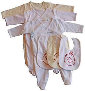 Newborn Baby Girl Boy Clothes Sleepers Romper Bodysuit Long Sleeve Bib Outfits