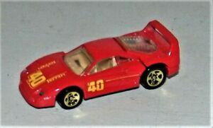 Hot Wheels 1992 Ferrari F40 Collector (5 Spoke Gold Wheels) Rare Mint 1988 Base