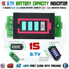 Li-ion 1S 3.7V 4 Blocks Lithium Power Module Battery Capacity Display Tester USA