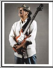 Carlos Santana Signature PRS electric guitar 8 x 11 pin-up photo 2010 print