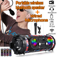Portable Wireless LED bluetooth Speaker Super Bass Stereo Subwoofer HIFI TF AUX