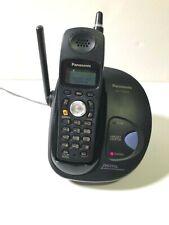 Panasonic KX-TG2420 Single Line Cordless Phone 2.4 GHz Black 1 Handset