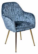Armrest Chair Ice Velvet Armchair Upholstered