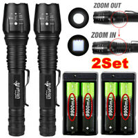 200000LM T6 LED Rechargeable High Power Torch Flashlight Lamp Light + Charger