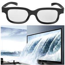 Circular Polarized Passive 3D Glasses Stereo For 3D TV Real D IMAX Cinemas Black