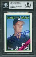 1988 topps traded #68t JACK MCDOWELL autograph rookie card BGS BAS AUTHENTIC
