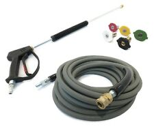 Deluxe SPRAY GUN, WAND, 50' HOSE (Non-Marking) & TIPS Power Pressure Washer 4000