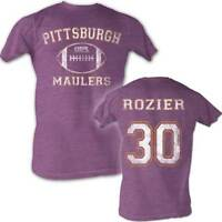 Mike Rozier #30 USFL Pittsburgh Maulers Men's Tee Shirt Neon Purple Sizes S-2XL
