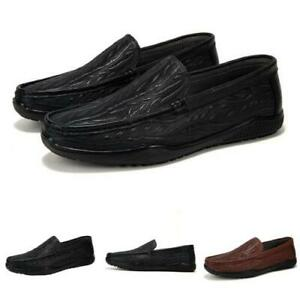 Mens Faux Leather Driving Moccasins Shoes Pumps Slip on Loafers Soft Outdoor