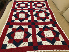 Handmade Afghan / Throw Blanket - Designer Collection - Stained Glass Windows
