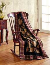 Heritage Quilted Patchwork Throw Blanket Cotton 50x60 Country Star Pinwheel