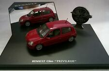 UNIVERSAL HOBBIES 1:43 EAGLE'S RACE RENAULT CLIO PRIVILEGE ROSSO ART 2400
