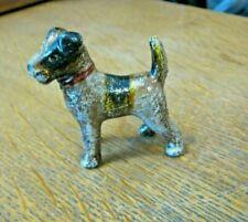 TERRIER DOG CAST IRON PAPERWEIGHT FIGURINE Hand Painted Fox Boston Scottish