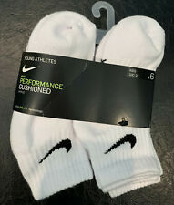 Nike 6-pk. Boy's Performance Cushioned Ankle Socks Size: 10C-3Y Solid White