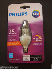 Philips, 25W Equivalent Soft White (2700K) B11, Blunt Tip Candle Dimmable LED