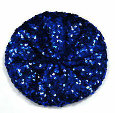 Lady Stretch Crochet Shining Sequin Beret Hat Party Beanie Chic Cap Club Dance