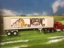 AMT ERTL G 1/32 Volvo N10 Mustang Ranch Truck & Reefer Trailer Kit made in 1994